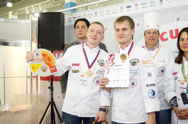 Награждение участников соревнований Лучшая пиццерия_Первое место.